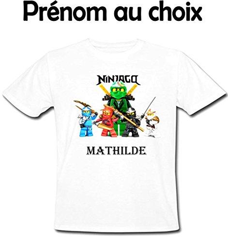 GRAVOPHOTO Tshirt personnalisé Ninjago Prénom Et Taille AU Choix