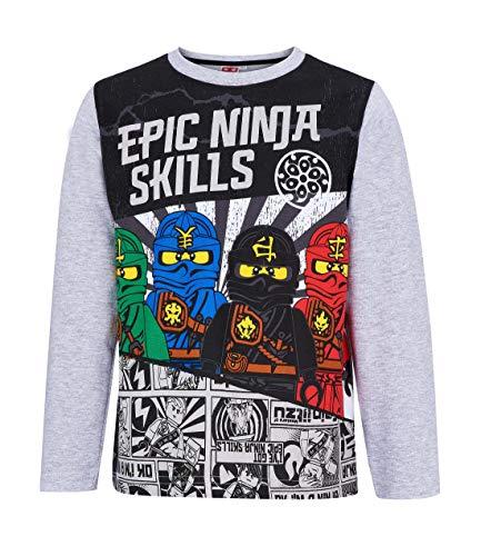 Lego Ninjago Tee-Shirt Manches Longues, Gris
