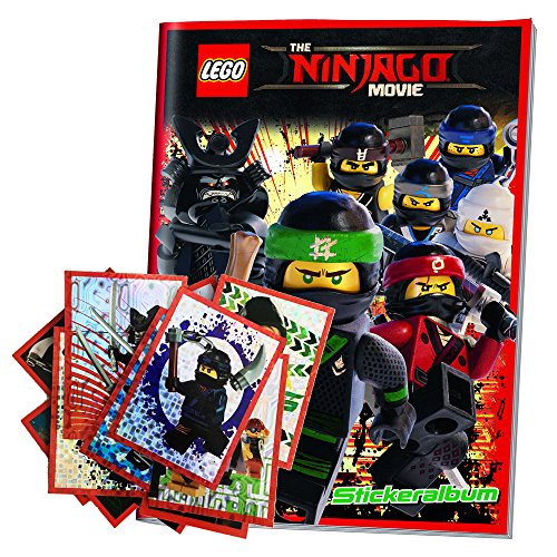30 autocollants et l'album du film Movie Lego Ninjago