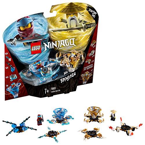 LEGO NINJAGO – Toupies Spinjitzu Nya & Wu – 70663 – Jeu de construction