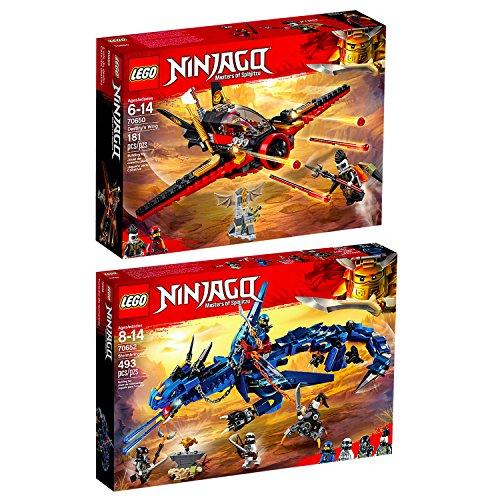 Lego Ninjago Set en 2 parties 70650 70652 La poursuite dans les airs + Le dragon Stormbringer