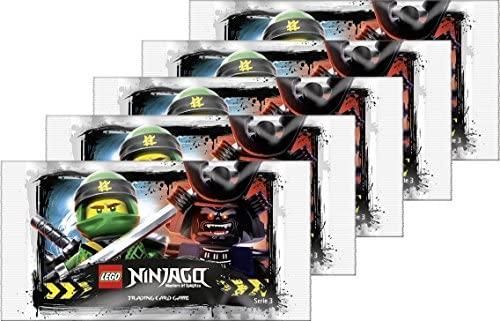 Cartes à collectionner Ninjago Série 3, 5 paquets de 5 Cartes – Édition allemande