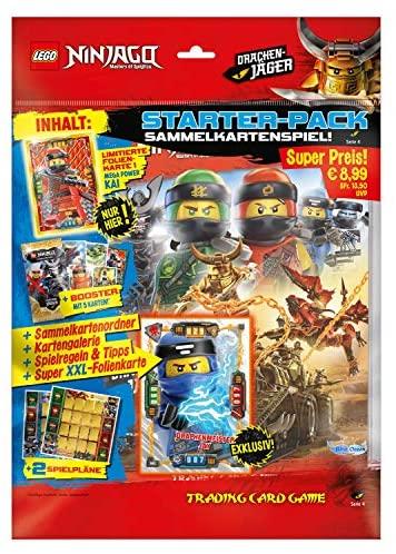 Lot de démarrage avec 1 livret de Cartes d'or limitées et Carte XXL Lego Ninjago Série IV