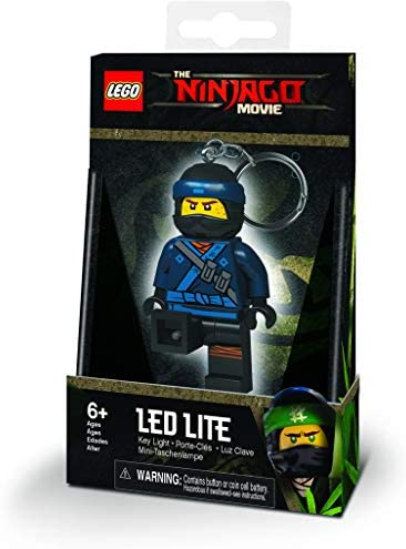 IQ Lego- Porte-clé Lumineux Ninjago Jay, LGKE108J