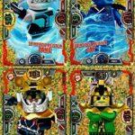 Lego Ninjago Série 3 - 4 cartes édition limitée Or - Cartes à collectionner LE5 Zane, LE6 Jay, LE7 Samurai X, LE8 Hutchins + carte Bonus Série 2 LE11 Ultra Acronix