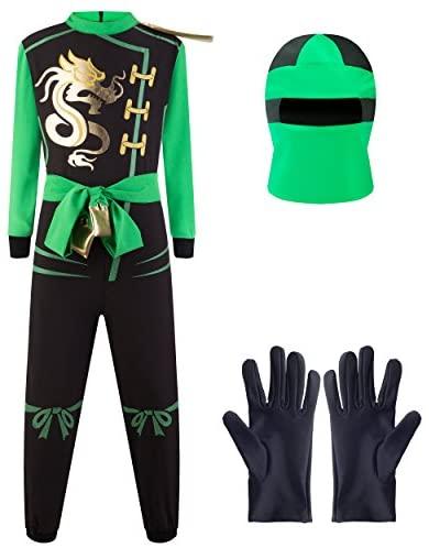 Combinaison de Guerrier Ninja pour Garçons, Déguisement – Taille M (6-8 Ans)
