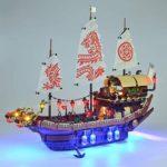 TETAKE Kit de LED Éclairage Jeu De Lumières pour Lego Ninjago - Le QG des Ninjas 70618 (Lego Modèle Non Incluse)
