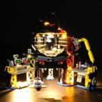 LIGHTAILING Jeu De Lumières pour (Ninjago Le Repaire Volcanique de Garmadon) Modèle en Blocs De Construction - Kit De Lumière A LED Compatible avec Lego 70631(Ne Figurant Pas sur Le Modèle)