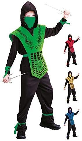 Costume Ninja Noir et Vert taille 152 à 158