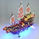 TMIL Éclairage LED Compatible avec Lego Mis 70618, Kit D'éclairage DIY pour Building Block Boat Bounty Ninjago Destin, Accessoires De Jouets (Uniquement Ensemble Lumière)