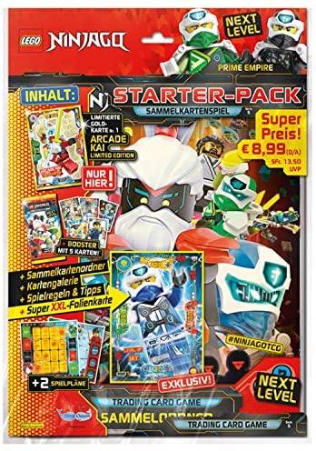 Ninjago Série V Next Level Pack de démarrage avec classeur à collectionner, 1 booster, carte d'or limitée et carte XXL