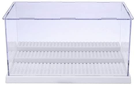 Vitrine en Acrylique Perspex Anti-poussière avec Base pour Mini-Figurines