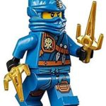 LEGO Ninjago Minifigure - Jay Zukin Robe Jungle Blue Ninja with Dual Gold Sai (70749) by LEGO