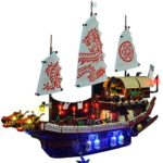 QZPM USB Light Set Compatible avec Lego 70618 Ninjago Movie Destiny's Bounty, LED Kit pour Les Blocs De Bâtiments (Lego Non Inclus)
