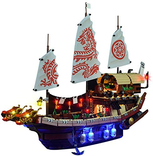 Kit lumières LED compatible avec Lego 70618 Ninjago Movie Destiny's Bounty