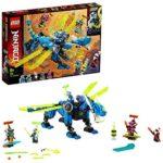 LEGO NINJAGO, Le cyber dragon de Jay, Set de construction avec figures Jay, Nya et Unagami, Figures d'action Prime Empire, 127 pièces, 71711