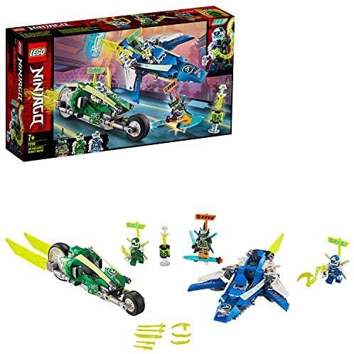 Les bolides de Jay et Lloyd avec avion et vélo speeder, Véhicules de Course Prime Empire, 118 pièces, 71709