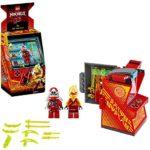 LEGO NINJAGO, Avatar Kai - Capsule Arcade, Set de jeu portatif, Jouets de collection Prime Empire Ninja pour enfants, 104 pièces, 71714